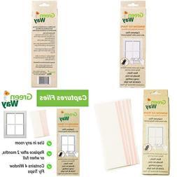 Greenway Window Fly Trap - 4 Traps Per Box, Heavy Duty Glue,