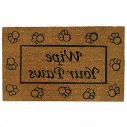 Wipe Your Paws Coir Welcome Mat
