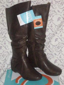Women's Baretraps Boots Sanova SZ 9 Wide Calf Brush Brown SZ