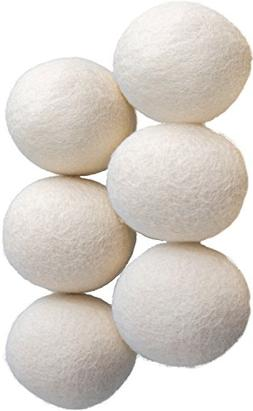 Wool Dryer Balls 6 Pack  Natural Organic Reusable Laundry So