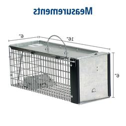X-Small 1-Door Professional Live Animal Cage Trap for Rat, S