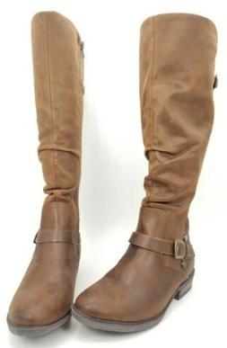 Baretraps Yanessa Woman shoes Wide-Calf Riding Boots Brown S