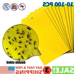Yellow Sticky Traps Catch Fly Insect Pests Double-sided Trap